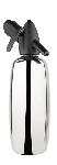 1 Quart Polished Stainless Steel Soda Siphon plus a FREE 10 pack of chargers