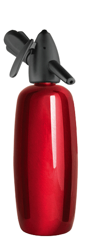 1 Quart Red Enameled Stainless Steel Soda Siphon plus a FREE 10 pack of chargers