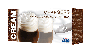 50 count pack of Whipped Cream Chargers